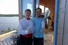 Shaun Majumder (entertaining at his private cottage)