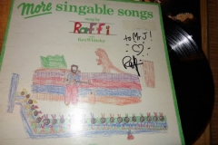 Raffi (Autographed record)