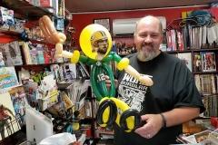 Calum Johnston (Green Bay Packers Balloon gift)