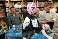 Garth Ennis (playing around with Punisher balloon)