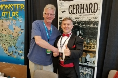 Gerhard (Cerebus artist, with Dave Sim)