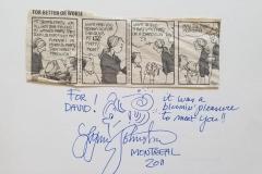 Lynn Johnston (Autograph, and original sketch!)