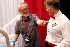 Stan Sakai (points to Grandway Comics sticker)