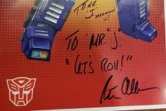 Transformers (Autographed Optimus Prime poster)
