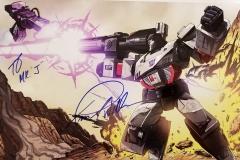 Transformers (Autographed Megatron poster)
