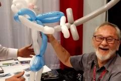 Stan Sakai (Reacts to Usagi balloon gift)
