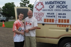 Terry Fox van (with Terry's older brother, Fred Fox)