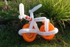 Tom Mulcair (Balloon bike gift)