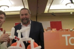 Tom Mulcair (NDPleased to meet you!)