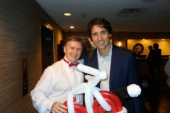 Justin Trudeau (Justin loved the magic and balloon!)