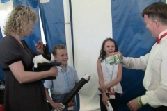Natalie MacMaster (performing magic for the family!)