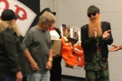 ZZ Top (Billy Gibbons claps for the balloon tribute!)