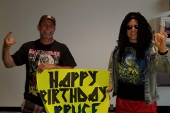 Iron Maiden (Birthday sign for Bruce Dickinson!)