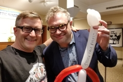 Steven Page (Barenaked Ladies- loved his balloon guitar!