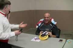 Kurt Angle (Kurt wears his 'second' gold medal!)