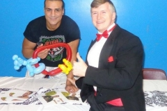 Alberto Del Rio (Balloon gift for him and his girlfriend Paige)